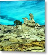 Crazy Rock Formations In New Mexico Metal Print