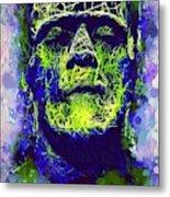 Frankenstein Watercolor Metal Print