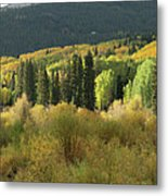 Crested Butte Colorado Fall Colors Panorama - 1 Metal Print