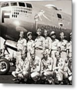Crew Standing With B-29 Superfortress Metal Print
