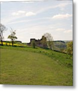 Crighton Castle Ruins And Hills, Midlothian Metal Print