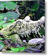 Crocodile Profile. Metal Print