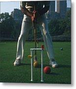 Croquet Player Metal Print