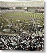 Crowd At Candlestick Park Metal Print