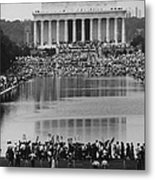 Crowd Of People Attending A Civil Rights Metal Print