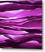 Crumpled Sheets Of Purple Paper Metal Print