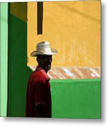 Cuban Man On The Beach Metal Print