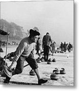 Curling On Loch Leven Metal Print