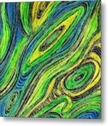 Curved Lines 5 Metal Print