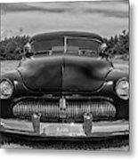 Customized 1950 Mercury In Bw Metal Print