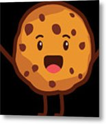 Cute Cookie For Cooke Lovers Men Women And Kids Metal Print