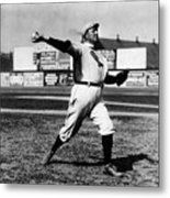 Cy Young Boston Wind Up Metal Print