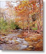 Cypress Creek As It Exits Blue Hole Regional Park In Wimberley, Hays County Texas Hill Country Metal Print