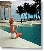 Cz By The Pool Metal Print
