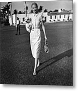 C.z. Guest At The Everglades Club In Metal Print