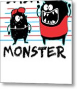 Dada Monster Cute Monster Cartoon For Kids And Dad Light Metal Print
