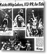Daily News Back Page Dated May 9, 1970 Metal Print
