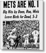 Daily News Front Page October 17, 1969 Metal Print