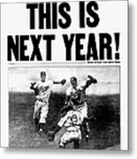 Daily News Front Page October 5, 1955 Metal Print