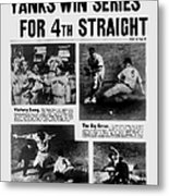 Daily News Front Page October 9, 1939 Metal Print