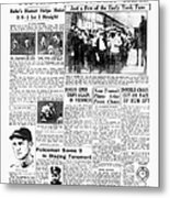Daily News Page 2, October 8, 1927 Metal Print