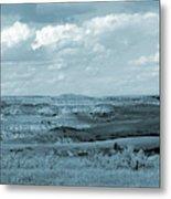 Dakota Grassland Shadows Metal Print