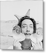 Dali With Shells Metal Print