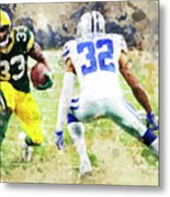 Dallas Cowboys Against Green Bay Packers. Metal Print