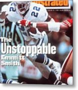 Dallas Cowboys Emmitt Smith, 1994 Nfc Championship Sports Illustrated Cover Metal Print