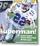 Dallas Cowboys Emmitt Smith, Super Bowl Xxviii Sports Illustrated Cover Metal Print
