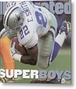 Dallas Cowboys Emmitt Smith, Super Bowl Xxx Sports Illustrated Cover Metal Print