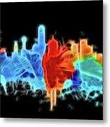 Dallas Neon Color Blast Metal Print