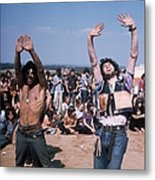 Dancing Hippies Metal Print