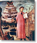 Dante And His Poem The Divine Comedy Metal Print