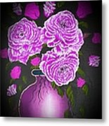 Dark And Delicious Roses In Pink Lilac Metal Print