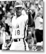 Darryl Strawberry Of The New York Mets Metal Print