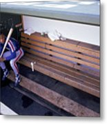 Darryl Strawberry Sits In The Dugout Metal Print