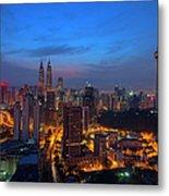 Dawn Of A New Day In Kuala Lumpur Metal Print