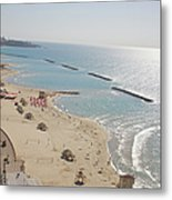 Day View Of Tel Aviv Promenade And Beach Metal Print