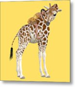 Daydreaming Of Giraffes Png Metal Print