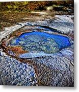 Dead Sea Sink Holes Metal Print