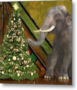 Decorating The Perfect Tree Metal Print
