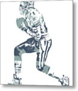 Deion Sanders Dallas Cowboys  Pixel Art 5 Metal Print