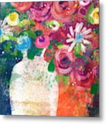 Delightful Bouquet 2- Art By Linda Woods Metal Print