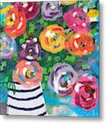 Delightful Bouquet 6- Art By Linda Woods Metal Print