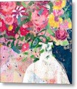 Delightful Bouquet- Art By Linda Woods Metal Print