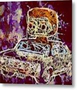 Dean Winchester Car Supernatural Pop  Metal Print