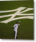 Derek Jeter Walks To The Plate Metal Print