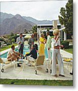 Desert House Party Metal Print