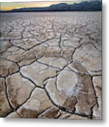 Desert Playa Circle Metal Print